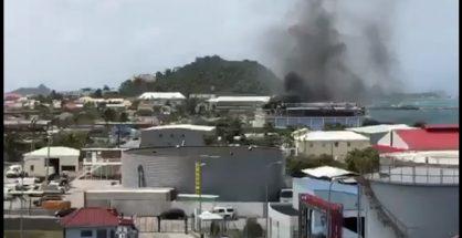 Screenshot Fire in Galisbay, French St. Martin