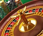 Casino gambling roulette table