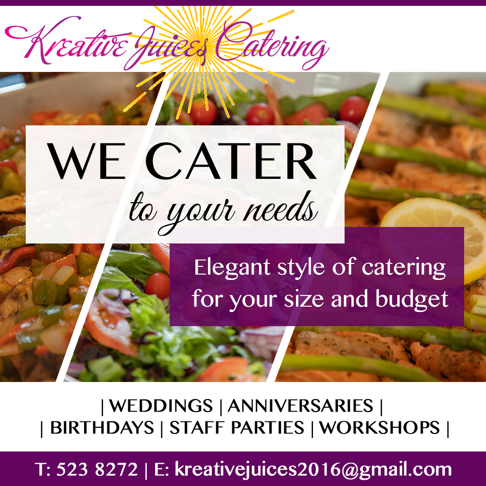 Kreative Juices Catering Ad