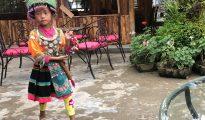 Tribal girl peddling trinkets - HH 20180929