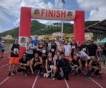 Law Enforcement Officers participate in Relay Race St. Maarten Day 2018