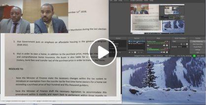 MP Rolando Brison Live-Streaming Review of Parliament Meeting