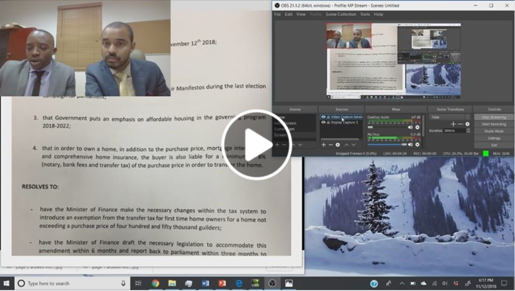 MP Rolando Brison Live-Streaming Review of Parliament Meeting