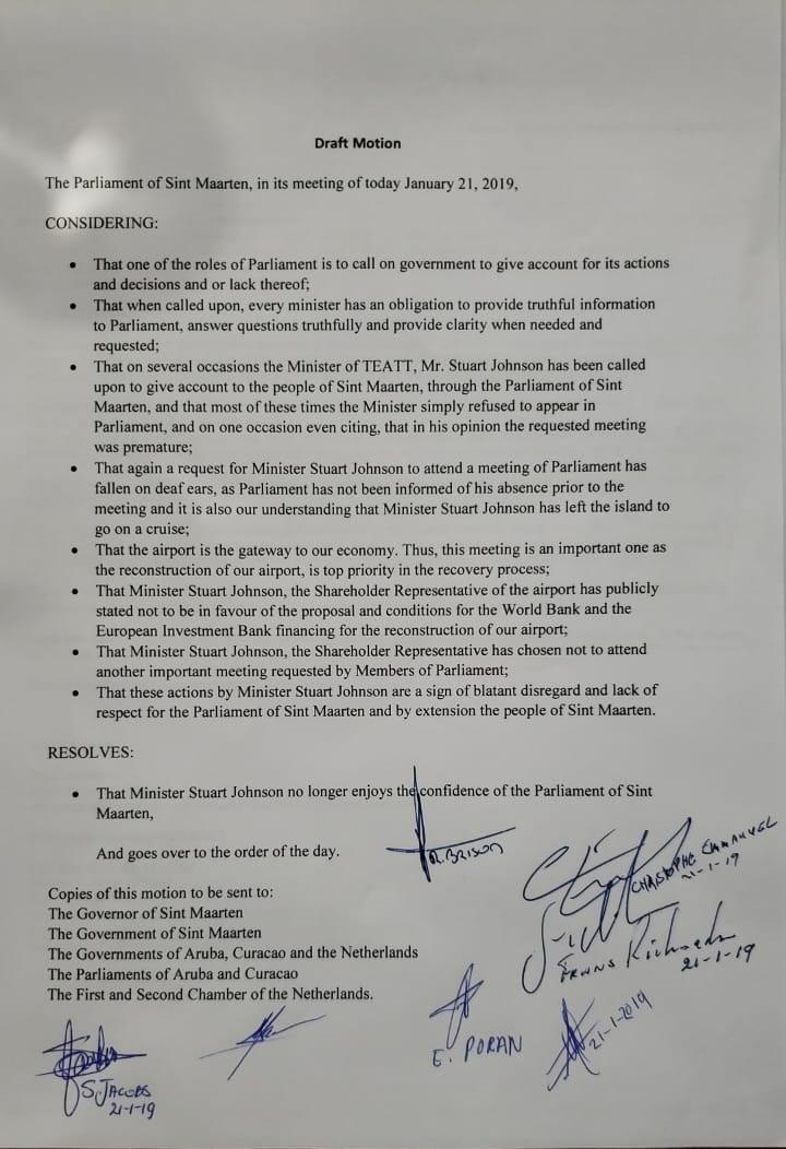Draft motion No Confidence Motion MinTEATT Stuart Johnson