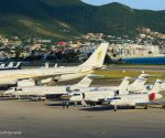 Jets parked at SXM Airport - Photo by Daniel Jef