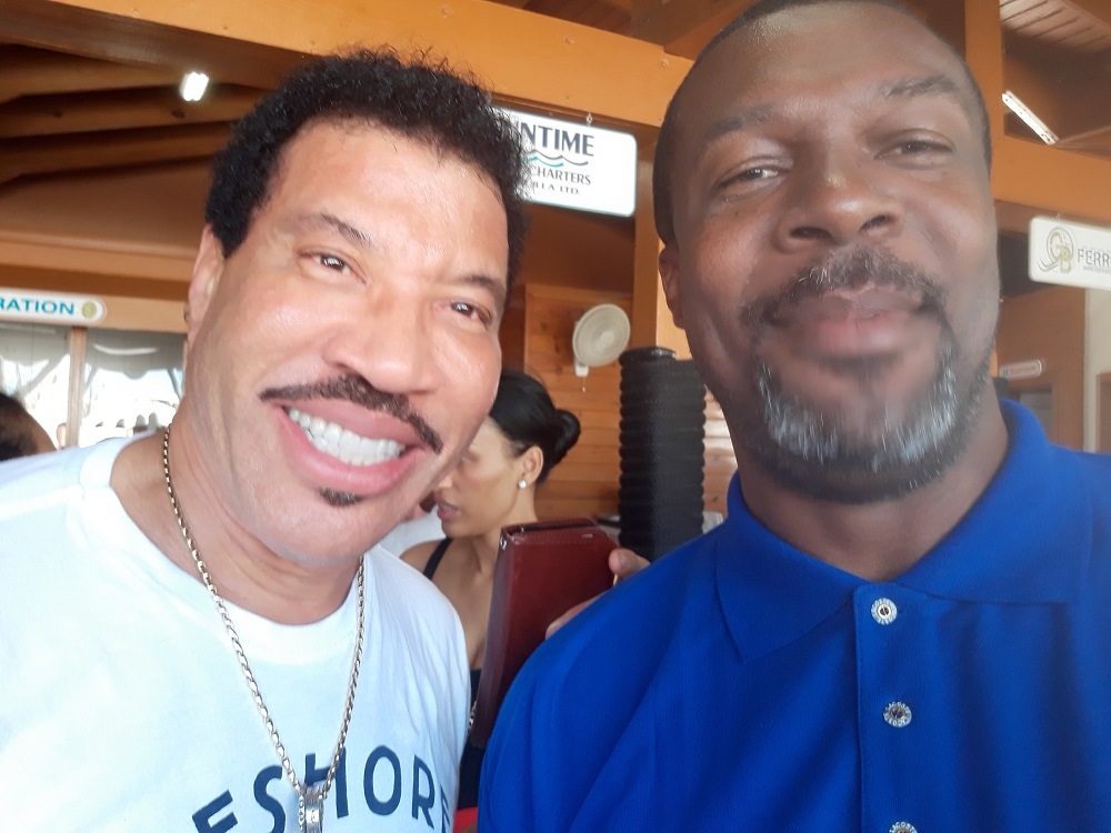 Lionel Richie in St. Maarten - December 2018