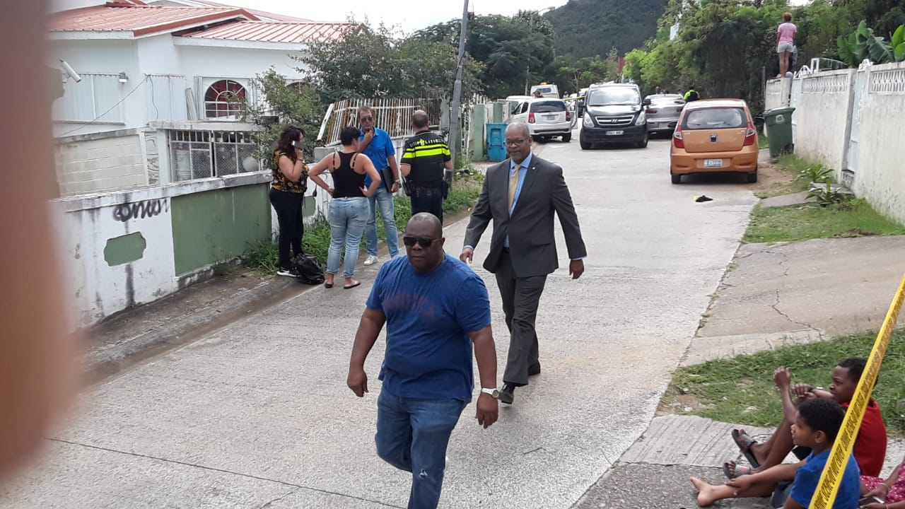 Minister of Justice Cornelius de Weever pays courtesy visit to scene - 20180113 RR