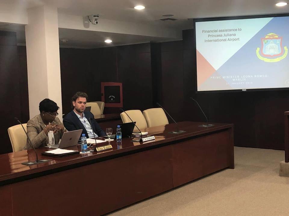 PM Leona Romeo Marlin presentation Parliament on Airport Financing 2019012101