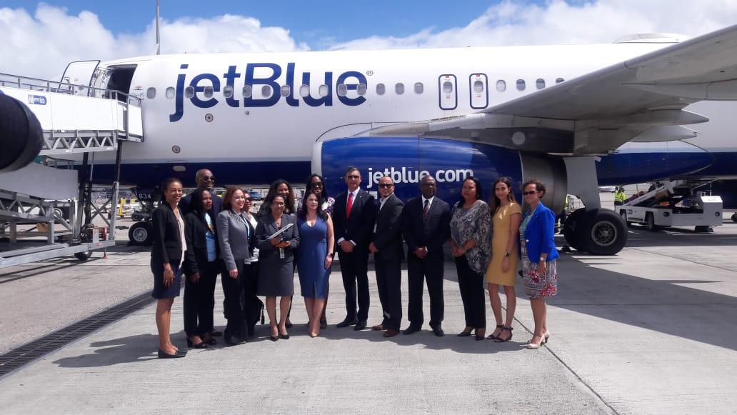 JetBlue inaugural FLL-SXM flight 14 Feb 2019 (1)