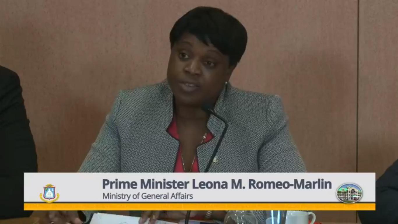PM Leona Romeo Marlin at Press Briefing 07 Feb 2019