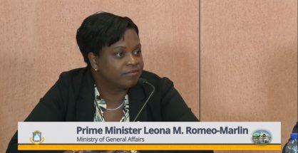 PM Leona Romeo Marlin at Press Briefing Jan 2019