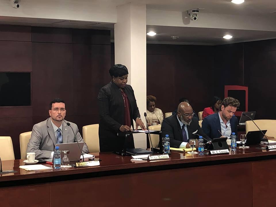 Prime Minister Leona Romeo Marlin in Parliament