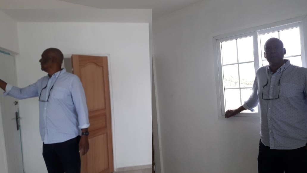 Henri Brookson of FCASH delivers home in Fort Willem - 8 March 2019