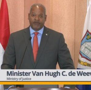 Minister of Justice Cornelius De Weever - 20 Mar 2019