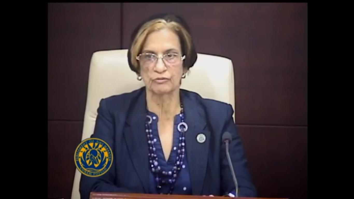 President of Parliament Sarah Wescot-Williams - 8 Mar 2019