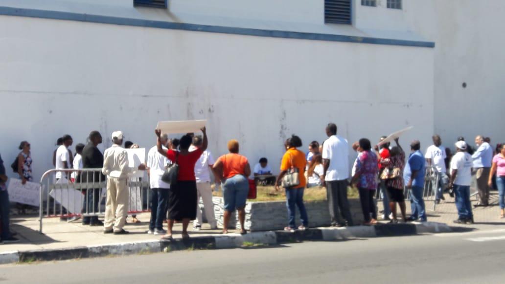 Silent Potestors outside Police Station Prison Cells (2)