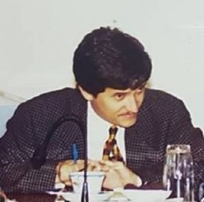Theo Heyliger in Island Council meeting - crca 1998
