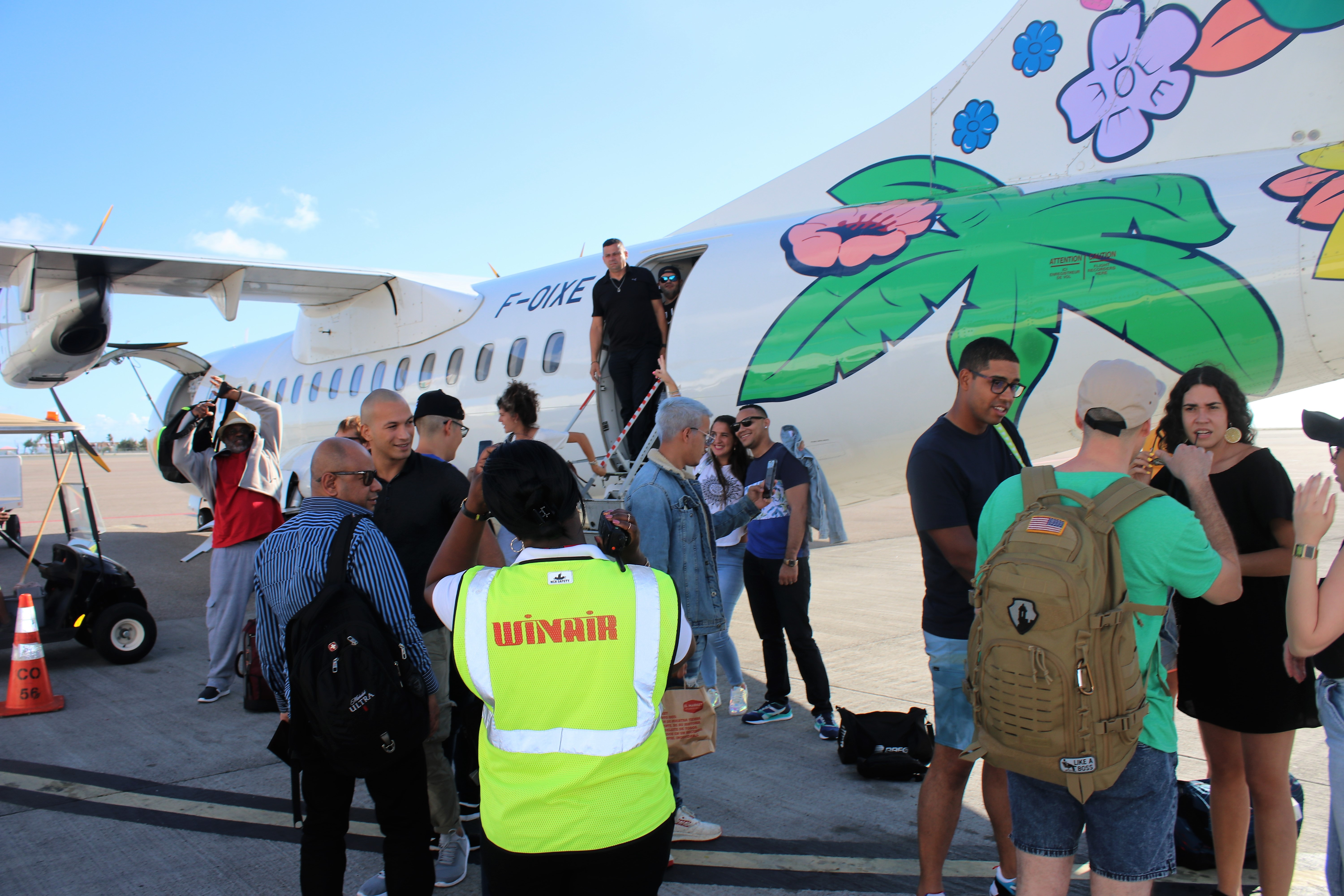 Visitors SXM Festival 2019 airport arrival 13032019