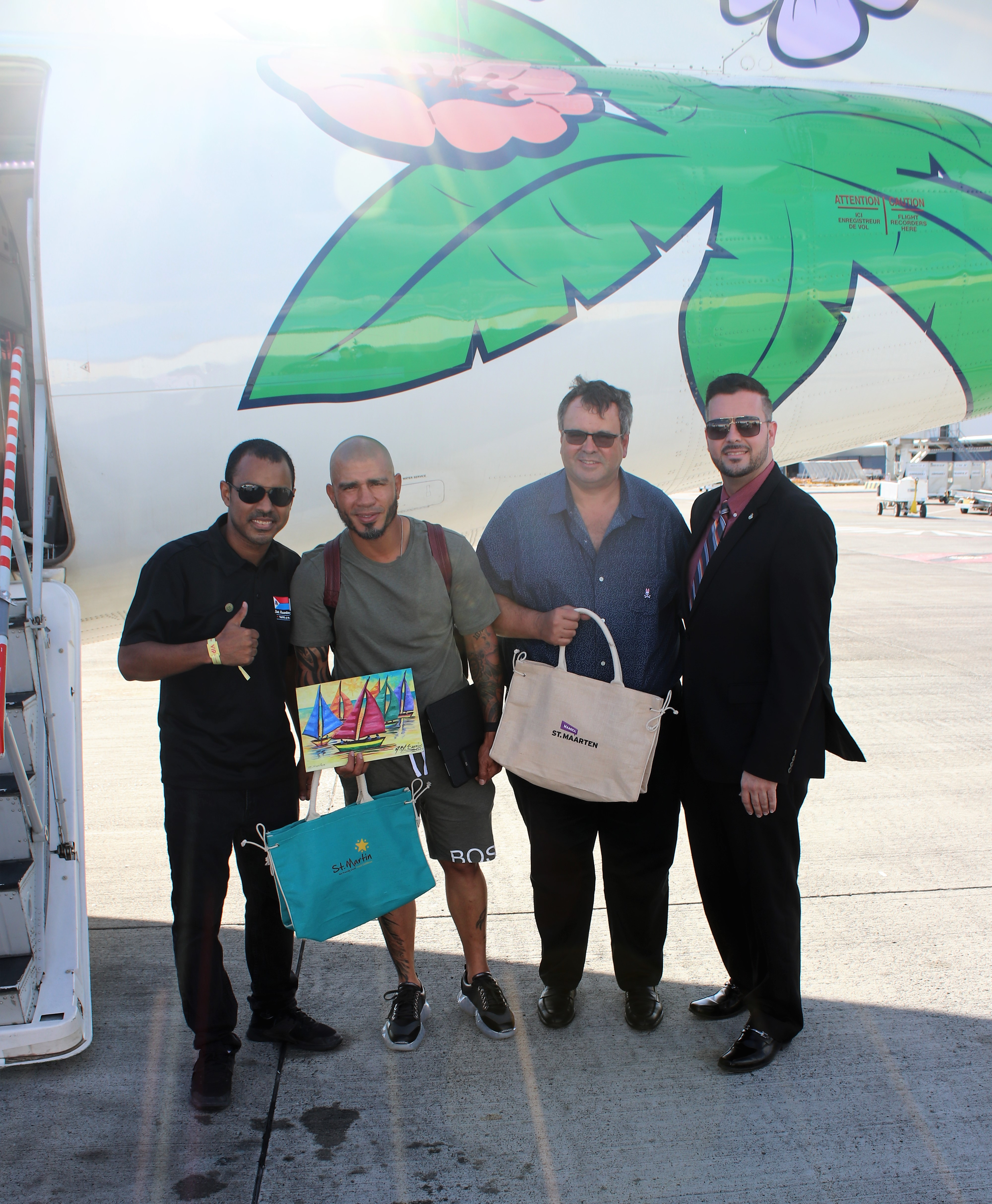Visitors SXM Festival 2019 welcomed by Minister Johnson & MP Brison 13032019 1