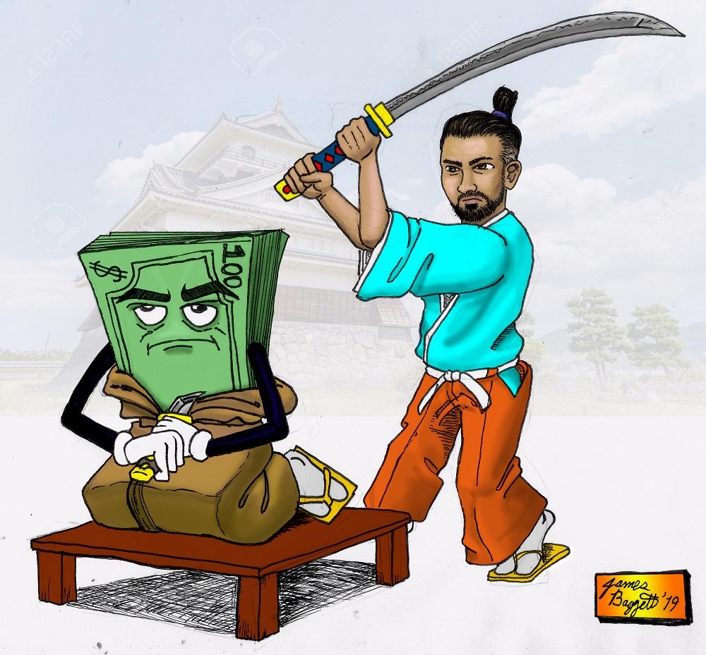 Salary Seppuku Cartoon