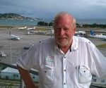 Cdr. Bud Slabbaert at SXM Airport
