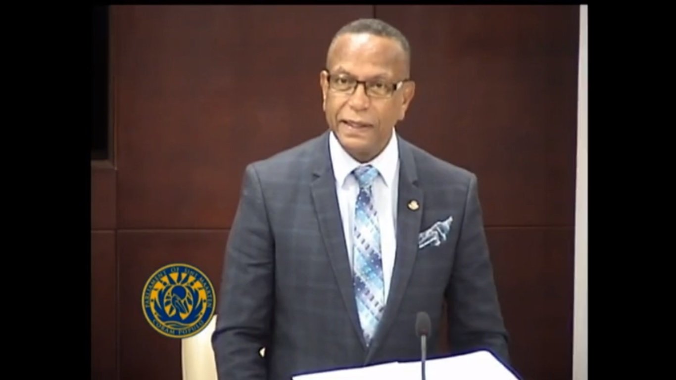 Minister Wycliffe Smith deputizing for Minister of Justice - 29 May 2019