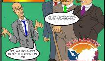 Ferrier The Skinny Robber Baron - cartoon original MPv