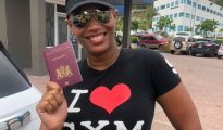 Grisha Heyliger-Marten with Theo Heyliger's Passport - 17 June 2019
