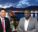 Minister Emil Lee with Andrew Dick 20190712