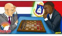 Chess vs Checkers cartoon