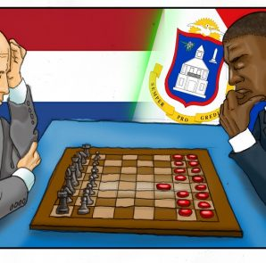 Chess vs Checkers cartoon