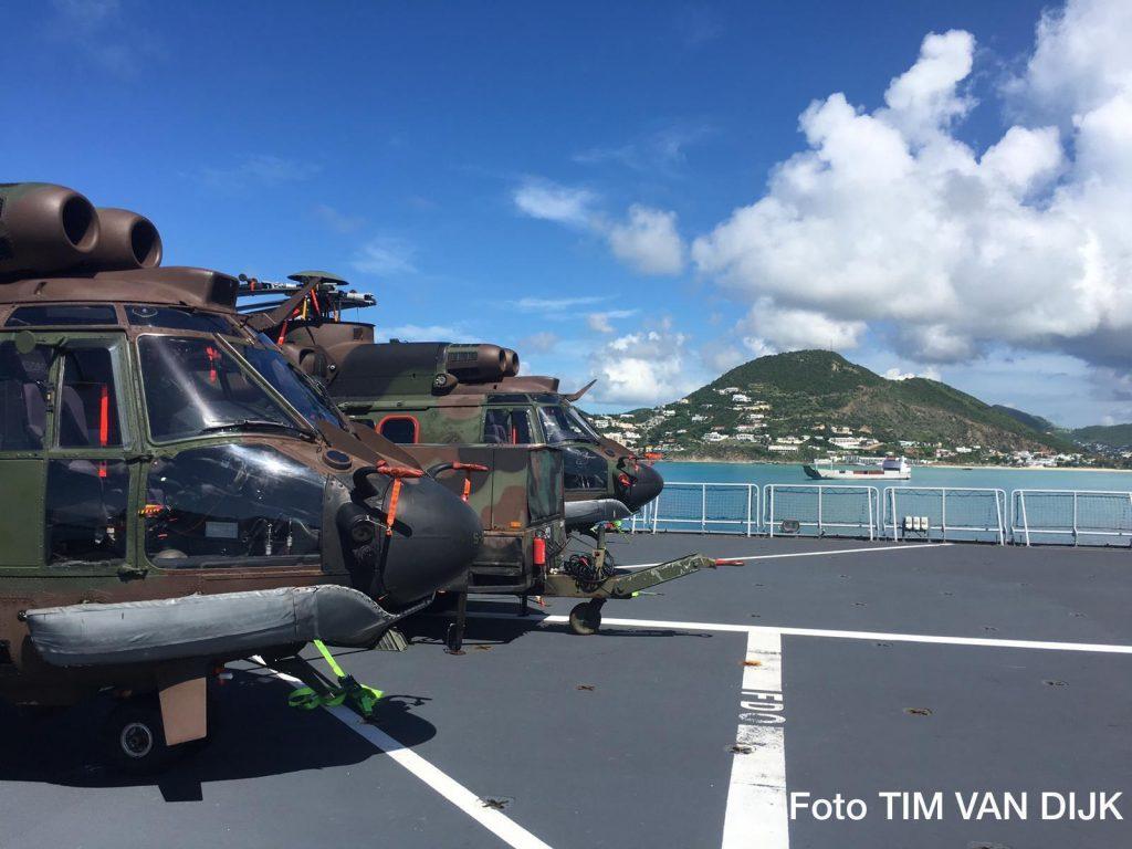 Helicopters aboard HMS Pelikaan