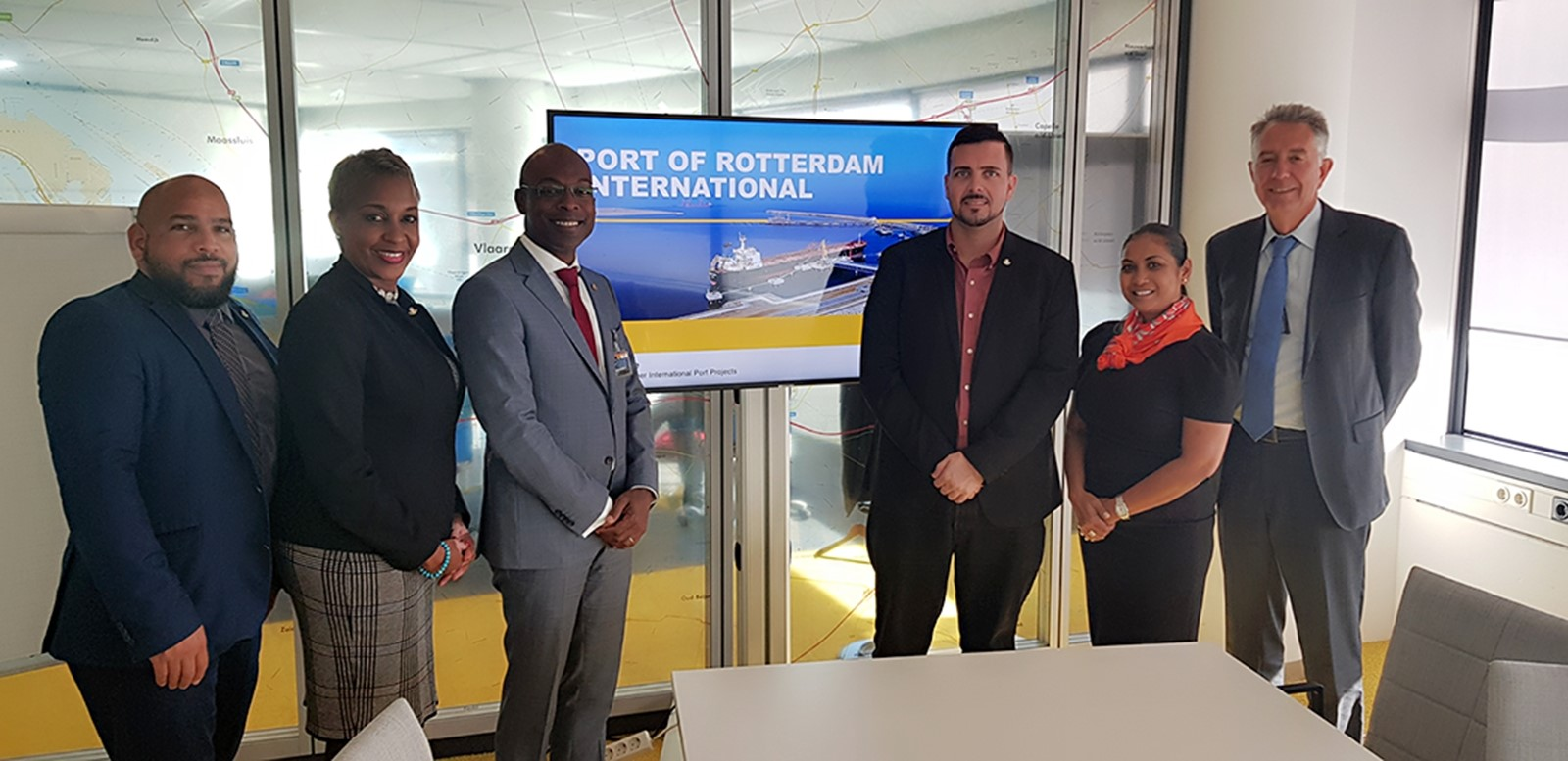 Johnson visit Port Rotterdam