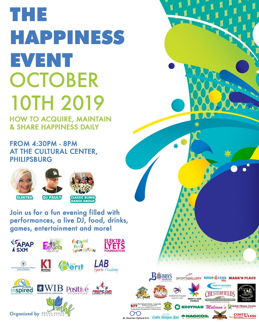 MHF Happiness Event flyer