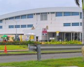 SXM Airport terminal building side entrance - 20190916 JA