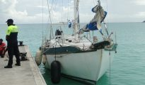Confiscated sail boat police- 20191003