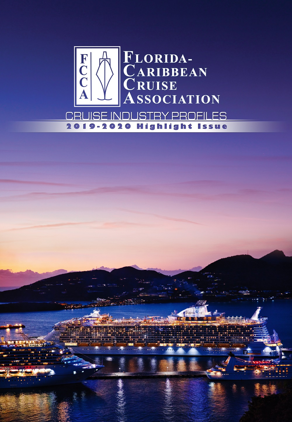 FCCA 2019 Highlights magazine cover with Port St. Maarten
