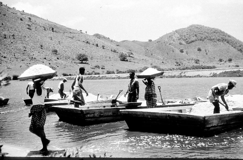 Salt Pickers in Grand Case - Courtesy of SXM Heritage