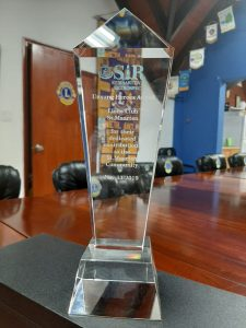 "Sint Maarten Lions Club received ""UNSUNG HEROES"" Award"
