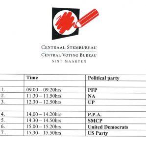 Postulation Day Schedule - 21 Nov 2019