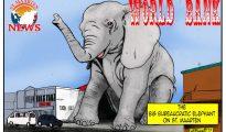 World Bank Elephant on St. Maarten - cartoon
