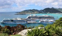 Cruise ships in Port St. Maarten - 20191128 JH