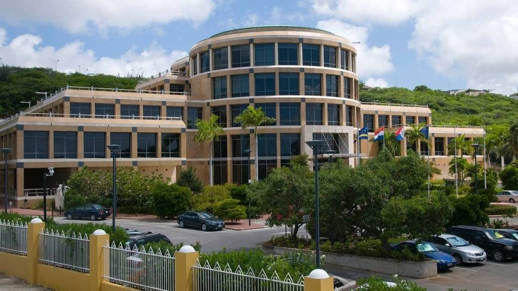 Central Bank building Curacao Scharloo