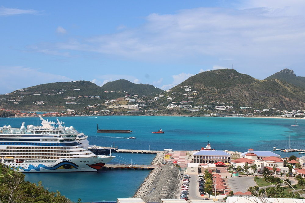 Cruise Ships in Port St. Maarten 11 Jan 2020