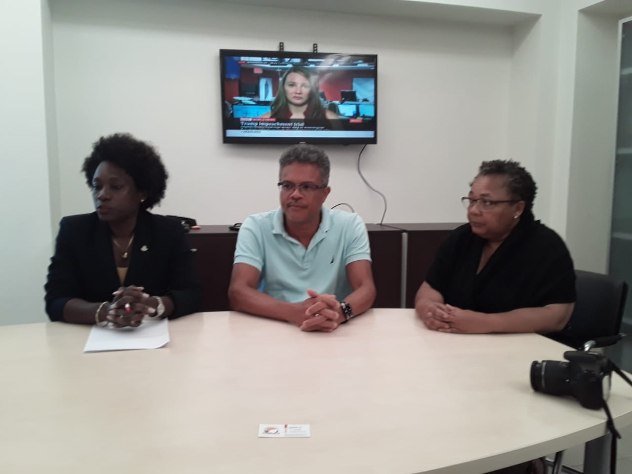 Minister of Health Pamela Gordon Carty - Dr. Earl Best - Maria Henry (CPS)
