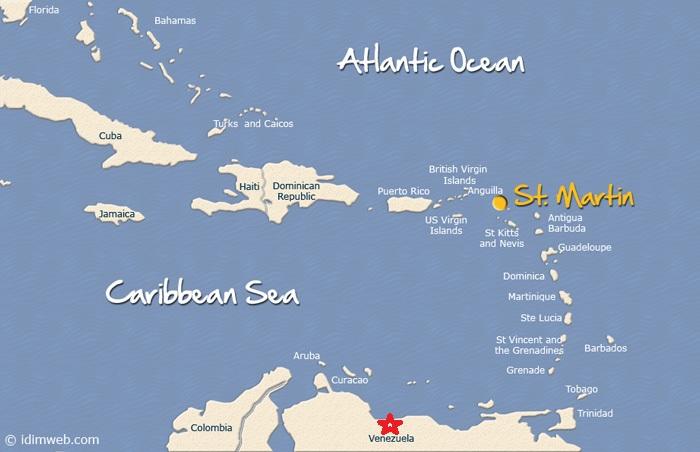 Venezuela - St. Martin map