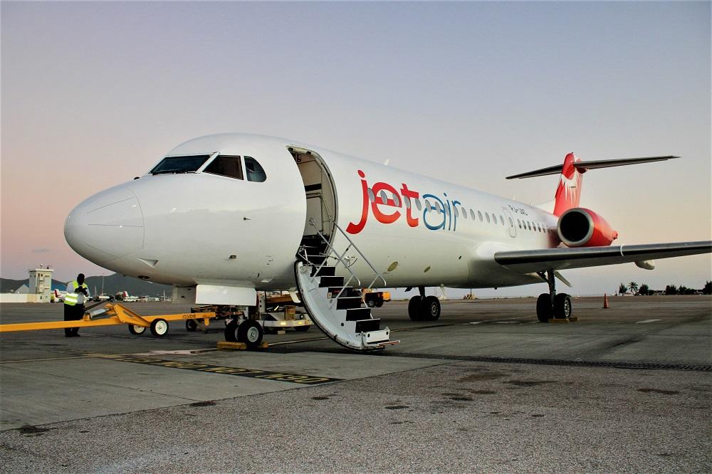 Jetair Fokker 70 at Juliana Airport - 02022020 JH