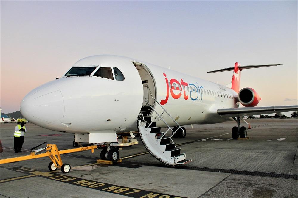 Jetair Fokker 70 at SXM Airport - 02022020 JH