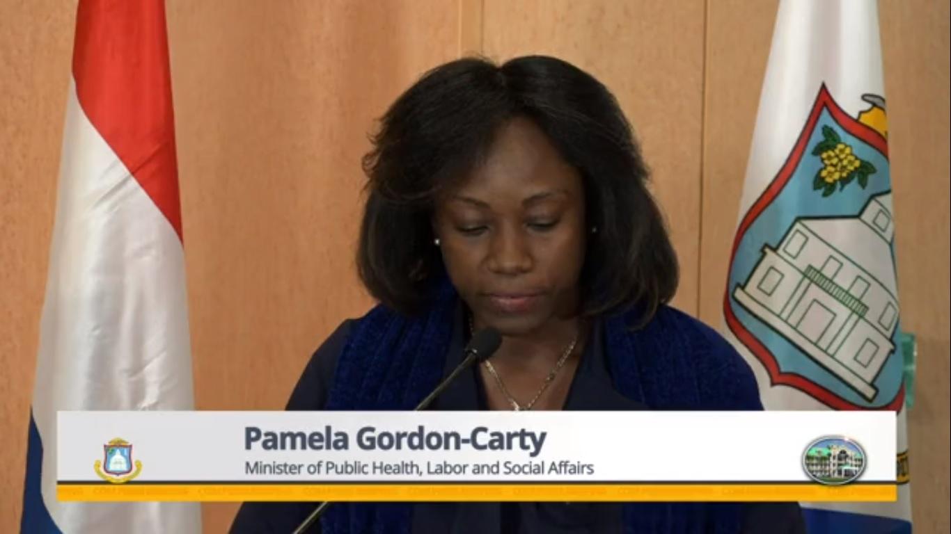 Minister of Labor Pamela Gordon-Carty