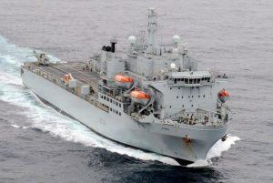 British Navy Support Ship